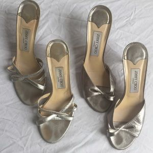 Bundle of JIMMY CHOO shoes silver metallic